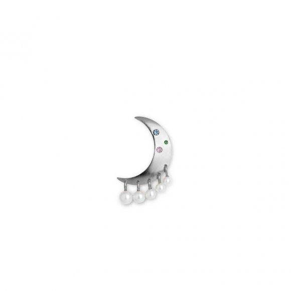 Pearl Moon Ørering | Sølv Fra Jane Kønig