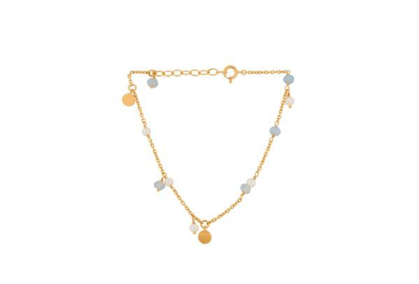 Pernille Corydon Afterglow Sea armbånd, guld - 15-18 cm.