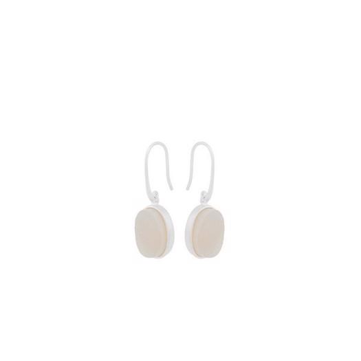 Pernille Corydon - Haze øreringe sølv - white druzy**