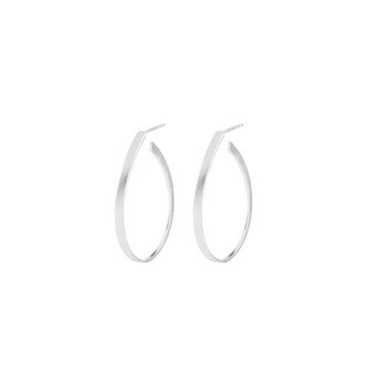 Pernille Corydon - Oval Creoles Øreringe i sølv. 35mm.