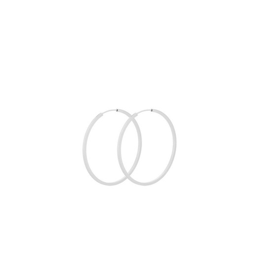 Pernille Corydon - Small orbit hoops i sølv. 40mm
