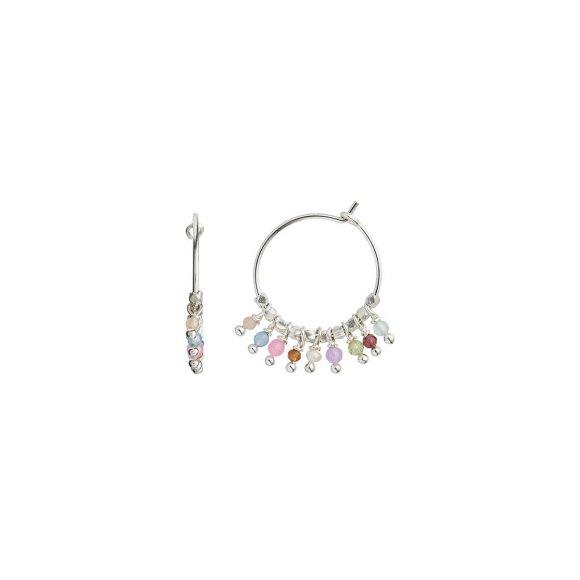 Petit Rainbow Hoop With Stones - Pastel Mix   Sølv Fra Stine A