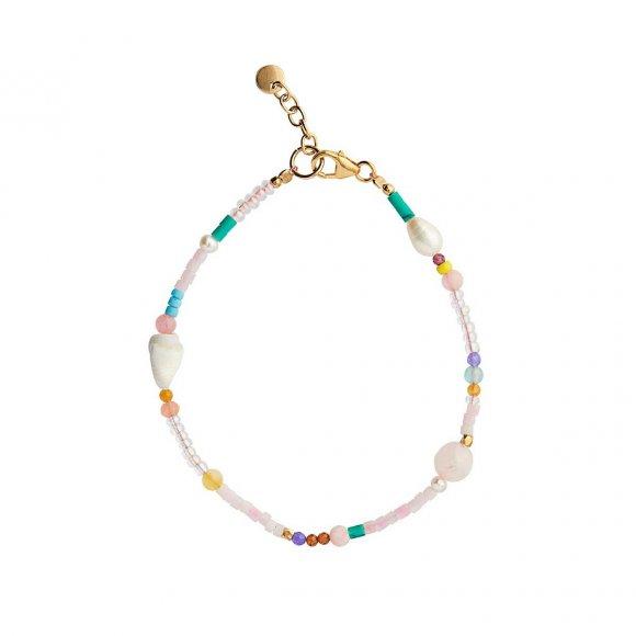 Pink Beach Bracelet | Forgyldt Fra Stine A