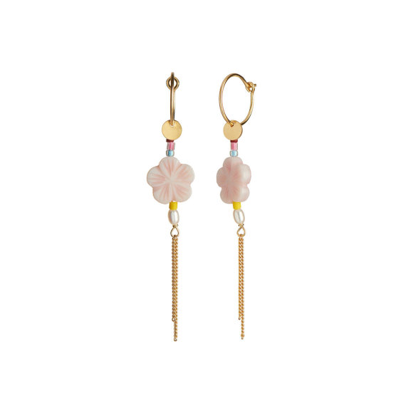 Pink Cherry Blossom Earring Fra Stine A