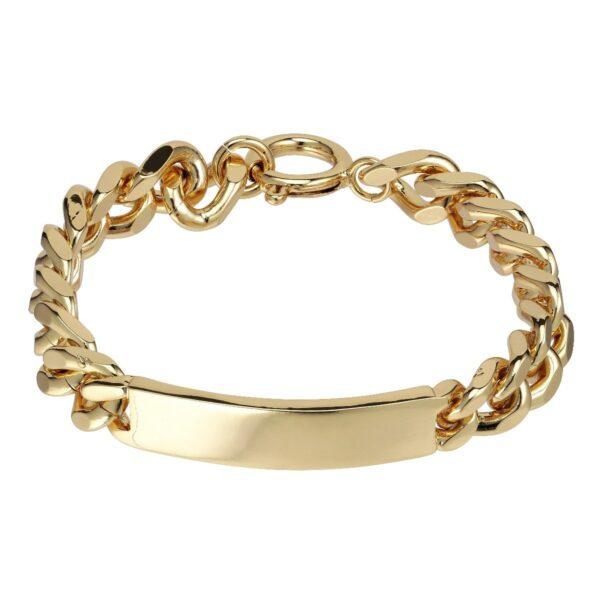Plissé Copenhagen Juliane punk bracelet armbånd, Gold - M/L 21cm