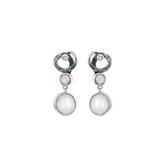 Rabinovich - Sølv øreringe med perler, og zirkoner