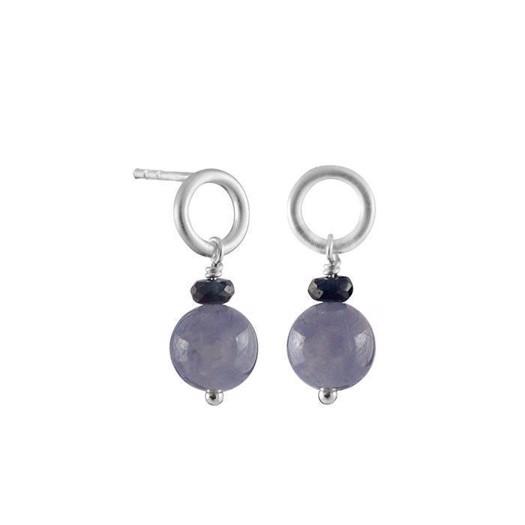 Rabinovich Symphony - Øreringe i sølv med lilla perler