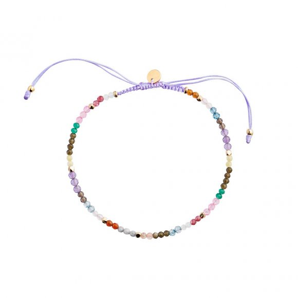 Rainbow Mix And Violet Ribbon Bracelet Fra Stine A