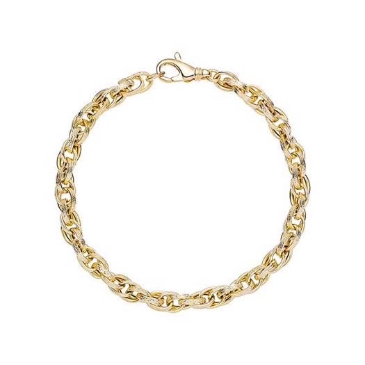 Rustik snoet guld armbånd fra Lund Copenhagen