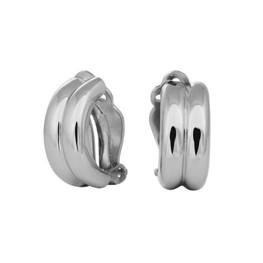 SIERSBØL - Øreclips i rhodineret sølv