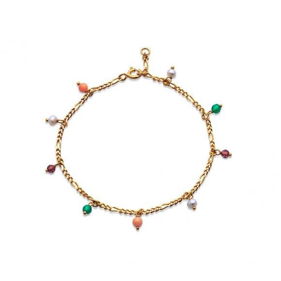 Salma Color Bracelet   Forgyldt Fra Maanesten