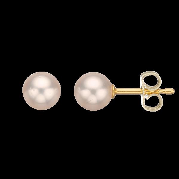Scrouples Ørestikker i 14 Karat Guld med Perler 1045