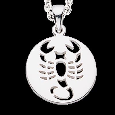Scrouples Skorpion Stjernetegn Sterling Sølv Halskæde