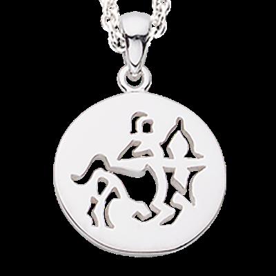 Scrouples Skytte Stjernetegn Halskæde i Sterling Sølv