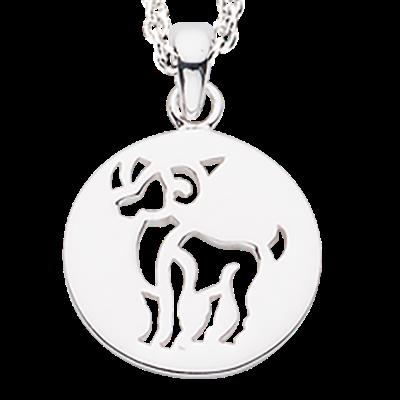 Scrouples Vædder Stjernetegn Sterling Sølv Halskæde