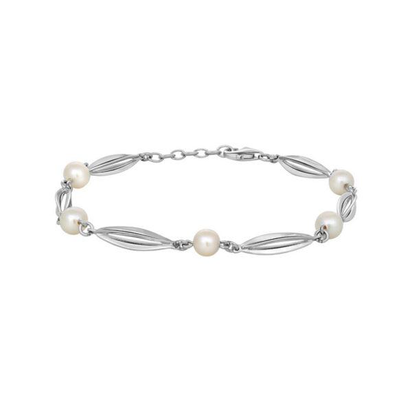 Siersbøl Bur & Perle armbånd Sølv Rhodineret, 18+2 cm