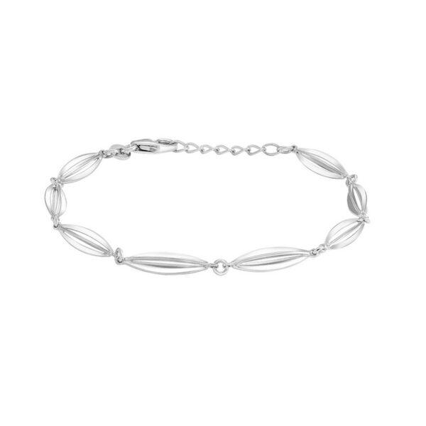 Siersbøl Bur armbånd Sølv Rhodineret, 18 + 2 cm