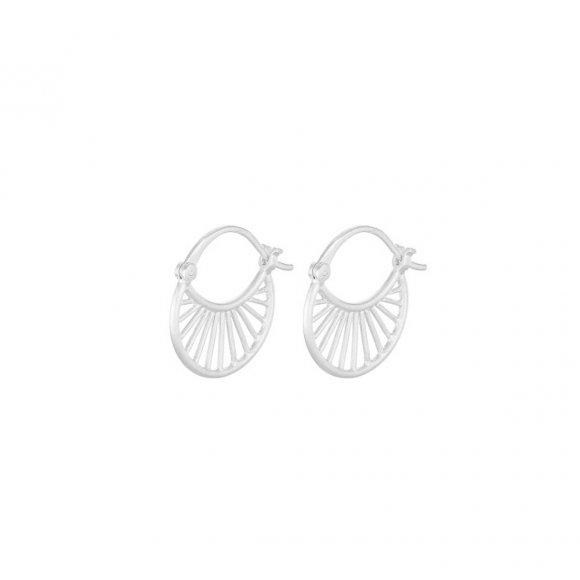 Small Daylight Earrings 16mm   Sølv Fra Pernille Corydon