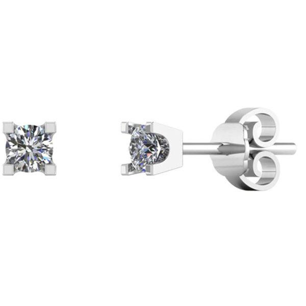 Smykkekæden 14 Karat Hvidguld Øreringe med Diamanter 0,10 Carat TW/SI