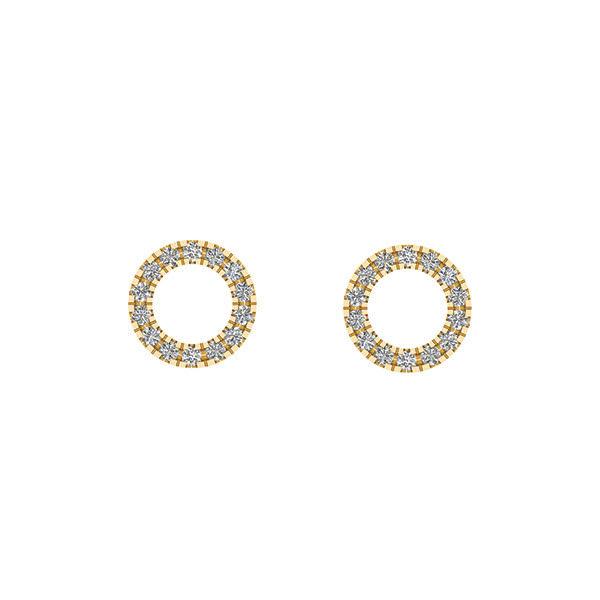 Smykkekæden 8 Karat Guld Ørestikker
