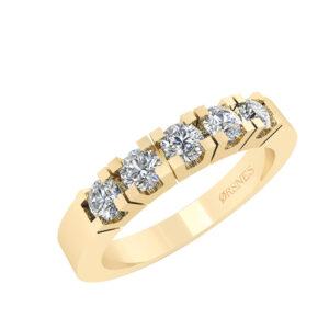 Smykkekæden Alliance 14 Karat Guld Ring med Diamanter 0,25 Carat TW/SI