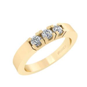 Smykkekæden Alliance 14 Karat Guld Ring med Diamanter 0,30 Carat TW/SI