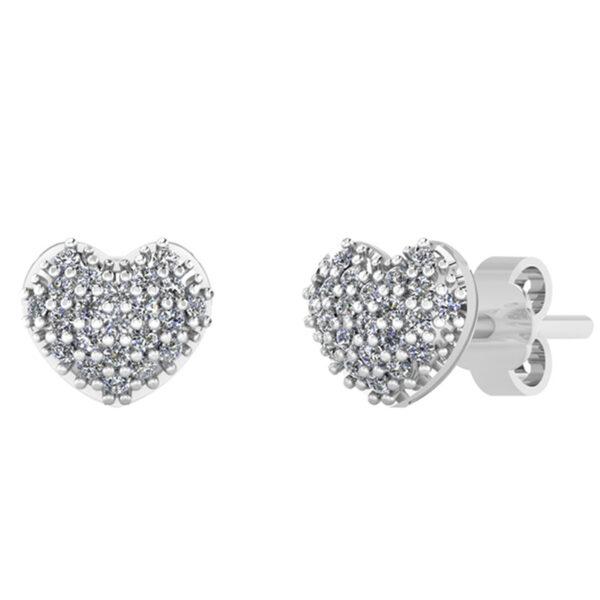 Smykkekæden Hjerte Sterling Sølv Ørestikker DMBYC0108S