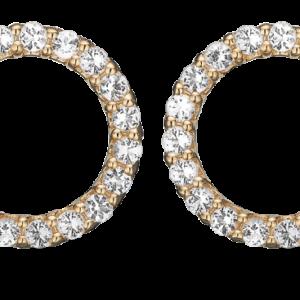 Sparkling Circle Forgyldt Sølv Ørestikker fra Christina Watches med Topaz