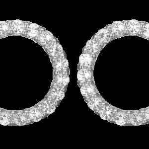 Sparkling Circle Sterling Sølv Ørestikker fra Christina Watches