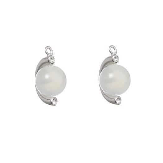 Spinning Jewelry water drop i sølv med månesten