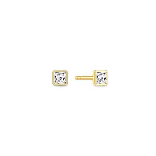 Spinning jewelry - Forgyldt sølv ørering - GOLDEN FASION