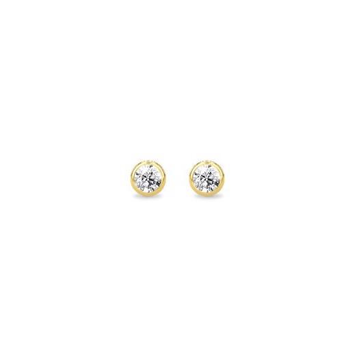 Spinning jewelry - forgyldt sølv ørering med Zirkon, Duchess ørestik