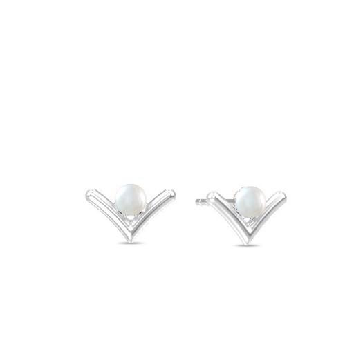 Spinning jewelry - sølv ørering, Victory Pearl ørestik