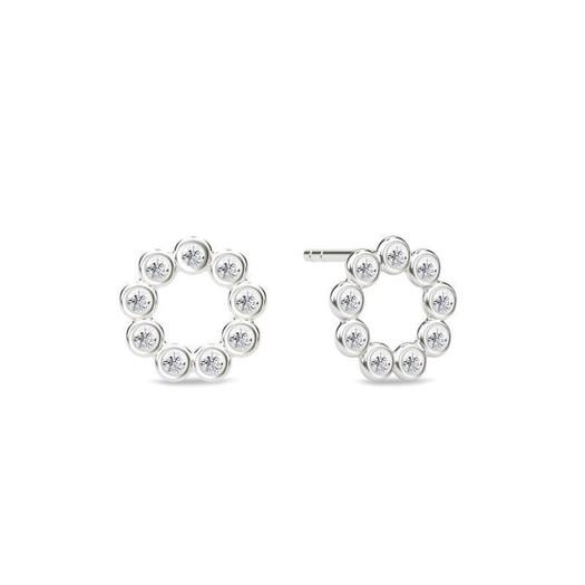 Spinning jewelry - sølv ørering - WHITE STAR
