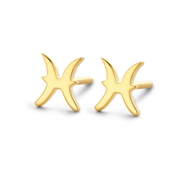 Spirit Icons Stjernetegn Fiskene Forgyldt Sølv Ørestikker
