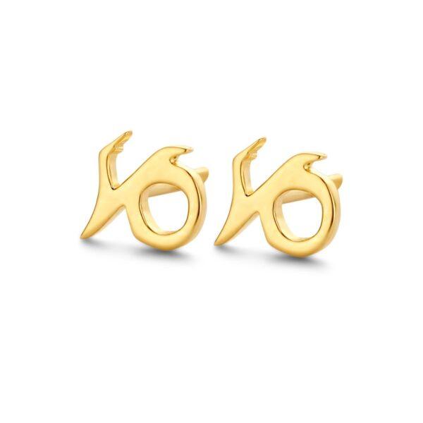 Spirit Icons Stjernetegn Stenbukken Forgyldt Sølv Ørestikker