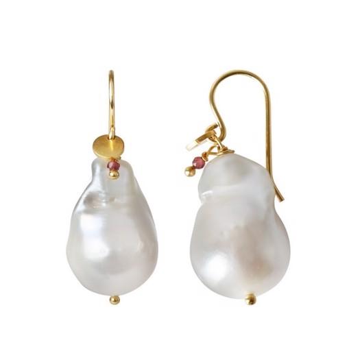 Stine A - Baroque Pearl ørering i forgyldt sølv