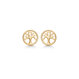 Støvring - 8 kt. guld ørestikker livets træ