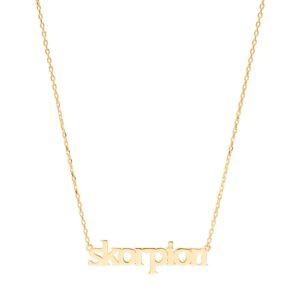 Sui Ava Stjernetegn halskæde, Skorpion - Guld