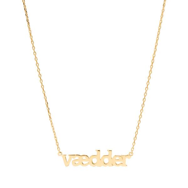 Sui Ava Stjernetegn halskæde, Vædder - Guld