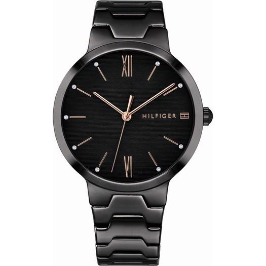 Tommy Hilfiger dameur - Avery ur i sort stål med sort stål lænke**