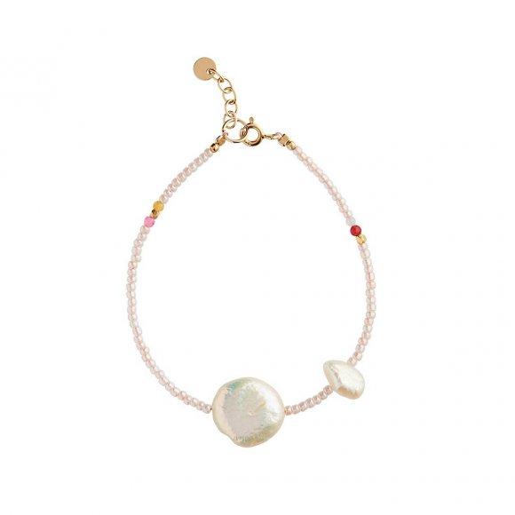 Vanilla Pearl Bracelet | Forgyldt Fra Stine A