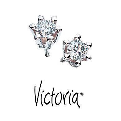 Victoria diamant hvidguld øreringe - 0,15 ct. TW/SI