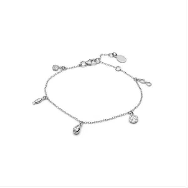 With Love Darling Planet armbånd - Silver