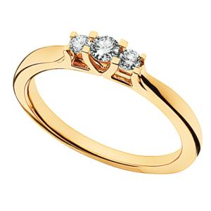 Zoya Ring 0,18 ct. i 14 Karat Guld fra Scrouples 7525,18